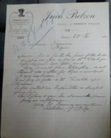 Facture Ancienne - Jean Belzon - Fourrages Pailles - Cesseras 1920 - - 1900 – 1949