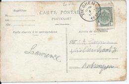 Zichtkaart Tieghem Met OCB 81 - Afstempeling TIEGHEM Type 2L - COBA 30 - 1893-1907 Wappen