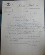 Facture Ancienne - Jean Belzon - Fourrages Pailles - Cesseras 1919 - - 1900 – 1949