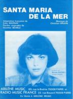 PARTITION MIREILLE MATHIEU  - SANTA MARIA DE LA MER - 1978 - EXC ETAT COMME NEUF - - Otros