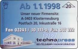 """TWK Österreich Privat: """"Techno Press"""" Gebr. - Oesterreich"""