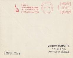 "EMA Sur Enveloppe : ""Foire Européenne Strasbourg"" N° NA 1133 (Strasbourg Cathédrale-67) Du 01-04-1964 (imprimés) - EMA (Print Machine)"