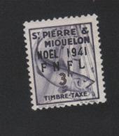 Faux Saint-Pierre Et Miquelon Taxe N° 51 3 F Gomme Sans Charnière - Strafport
