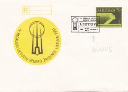 BUSTA FDC - LITUANIA - IV PASAULIO  LIETUVIU SPORTO ZAIDYNES LIETUVA 1991 - Lituania