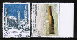 CEPT 1993 AD FR MI 451-52 USED ANDORRA FRANCE - Europa-CEPT