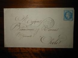 Lettre GC 142 Arcueil Seine Avec Correspondance Et Facture - 1849-1876: Période Classique