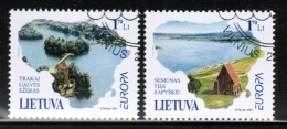 CEPT 2001 LT MI 756-57 USED LITHUANIA - Europa-CEPT