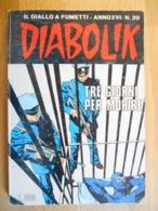 Diabolik XVI  N. 20 - Diabolik