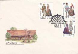 BUSTA FDC - LITUANIA - VILNIUS - SUVALKIJA - 1992 - Lituania