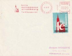 "EMA Sur Env. : ""Foire Européenne Strasbourg"" N° NA 1133 (Strasbourg Cathédrale-67) Du 09-08-1967 (Vignette Non Postale) - EMA (Print Machine)"