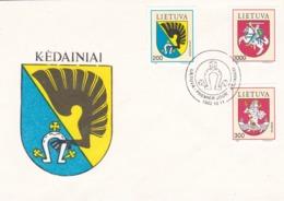 BUSTA FDC - LITUANIA - KEDAINIAI - 1992 - Lituania
