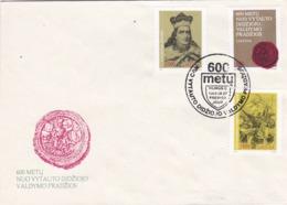 BUSTA FDC - LITUANIA - 600 METU NUO VYTAUTO DIDZIOJOVALDYMO PRADZIOS - 1993 - Lituania