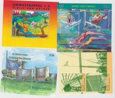 NATIONS UNIES VIENNE (AUTRICHE) 4 Blocs Feuillets Neuf Xx N° YT BF7-8 -11-12 - Années1996 à 2000 - Blocs-feuillets