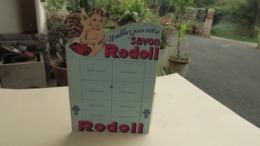 Carton Publicitaire Ancien, Plv, Présentoir à Savons Rodoll, Parfum Ancien - Perfume & Beauty