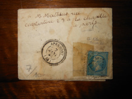 Lettre GC 125 Apremont La Foret Meuse Avec Correspondance - Marcophilie (Lettres)