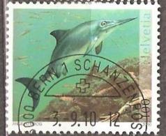 Switzerland: 2 Used CTO Stamps, Dinosaur Fossils, 2010, Mi#2168-2169, - Switzerland