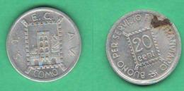 Como Gettone STECAV  RSI 20 Centesimi 1944 X Trasporti Tram - Monétaires/De Nécessité