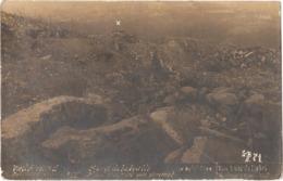 """Dépt 68 - HARTMANNSWILLER - Hartmannswillerkopf (""""VIEIL ARMAND"""") - CARTE-PHOTO Prise De L'abri - (""""X"""" Indique REHFELSEN) - Autres Communes"""