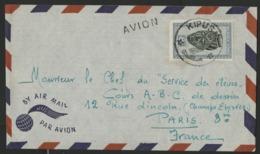 """CONGO BELGE """"KIPUSHI"""" Obl. Cachet à Date Sur N° 291 B. Sur Enveloppe Par Avion Pour La France. - Belgian Congo"""