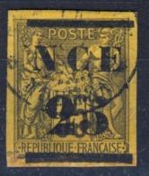 1881 Nuova Caledonia - 25 Su 35 C. Marrone Nerastro Soprastampato - Signed - Usati
