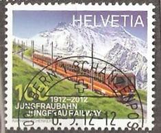 Switzerland: Single Used CTO Stamp, 100 Years Of Jungfrau Railway, 2012, Mi#2233, - Suisse