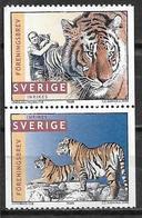 Suède 1998 2017/2018 Neufs Tigres - Sweden