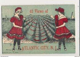 ATLANTIC CITY 48 VIEWS OF CARTE A SYSTEME MULTIVUES  CPA BON ETAT - Atlantic City