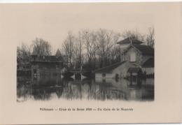 VILLENNES  CRUE DE SEINE 1910  UN COIN DE LA NOURREE - Villennes-sur-Seine