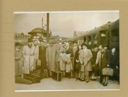 Le Groupe De Jazz Belge JEAN OMER  Et DJANGO REINHARDT   à La Gare Du Nord Le 13/05/1942 - Personnes
