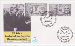 France & Germany FDC 1988 25 Years Cooperation (T3-34) - Joint Issues