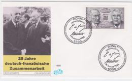 France & Germany FDC 1988 25 Years Cooperation - Germany Only FDC (T3-34) - Emissioni Congiunte