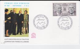 France & Germany FDC 1988 25 Years Cooperation - France Only FDC (T3-34) - Emissioni Congiunte
