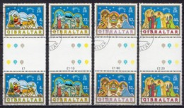 Gibraltar Used Set In Gutter Pairs - Christmas