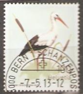 Switzerland: Single Used CTO Stamp, White Stork, 2013, Mi#2299, - Suisse