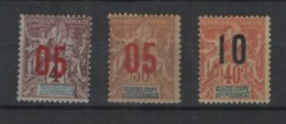 Guadeloupe 1912 , YT 72-74 *, Cote 6,00 - Unused Stamps