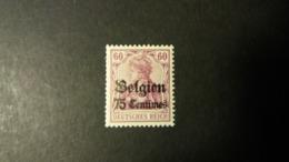 """Belgique - Timbres De L'occupation: Timbres D'Allemagne 1905-12 Avec Surcharge """"Belgien""""  . Numéro OC6 état Neuf - Weltkrieg 1914-18"""