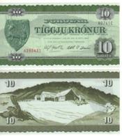 FAEROER ISLANDS 10 Kronur  P16a 1974 UNC - Islas Faeroes