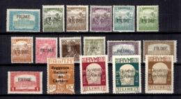 Fiume Petite Collection 1919/1921. Bonnes Valeurs. B/TB. A Saisir! - 8. WW I Occupation