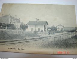 C.P.A.- Saint Fargeau Ponthierry (77) - La Gare - 1905 - SUP (BJ 80) - Saint Fargeau Ponthierry