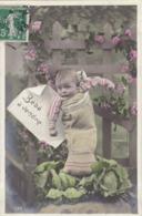 CARTE FANTAISIE. CPA . BEBE A VENDRE  . ANNEE 1908 - Bébés