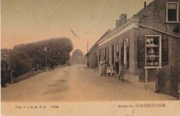 GIESSENDAM 1908 TULPKAART WINKEL MET VOLK - MOOIE ANIMATIE - Autres