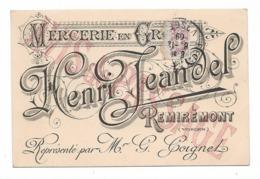 CPA 88 REMIREMONT Mercerie En Gros Henri JEANDEL - Remiremont