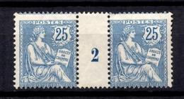 France Mouchon Maury N° 127 Millésime 1902 Neufs *. Gomme D'origine. B/TB. A Saisir! - Millesimes