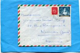 MARCOPHILIE -PORTUGAL-lettre Pour Françe-1953 2 Stamps N°800 CENTENAIRE DU TIMBRE - Lettres & Documents