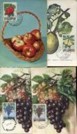 47886 Liban, Lebanon, 4 Maximum Showing Pea Birne Apples Apfel Grapes Trauben - Obst & Früchte