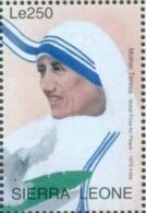 Mother Teresa, Saint From India, Religion, Peace, Nobel Prize, MNH  Sierra Leone - Mother Teresa
