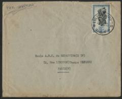 """CONGO BELGE """"LULUABOURG I.G."""" Obl. Cachet à Date Sur N° 289. Sur Enveloppe Par Avion Pour La France. - 1947-60: Storia Postale"""
