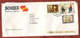 Luftpost, Trachten U.a., Beirut Nach Mainz 1973 (80469) - Libanon