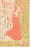Jugendstil - Art Nouveau - Lovely Card Of A Young Woman, Jeune Femme, Junge Frau / 1901 - Cartoline