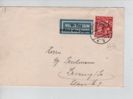 PR7402/ Deutsches Reich Label 'Via Zeppelin Fredrichshafen' Stuttgart 17/11/35 - Zeppelins